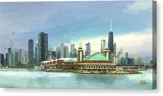 Navy Pier Chicago --winter Canvas Print