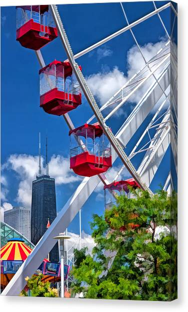 Navy Pier Ferris Wheel Canvas Print