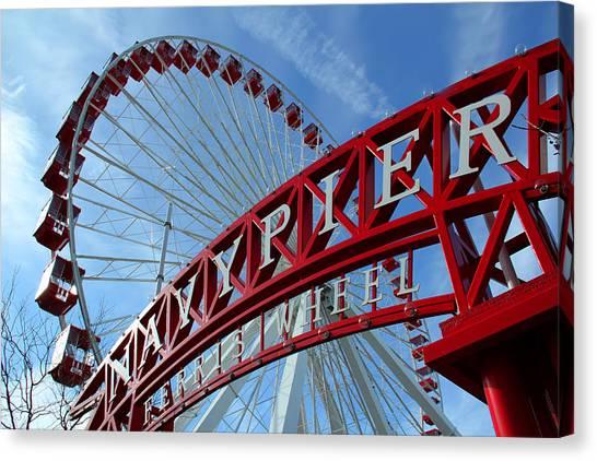 Navy Pier Ferris Wheel Canvas Print by James Hammen