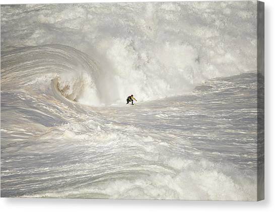 Surf Canvas Print - Nazara? North Canyon by Rui Caria