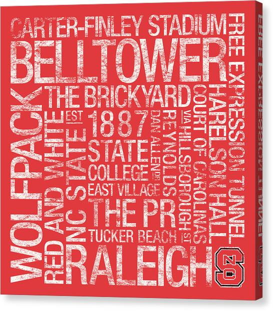 Free Canvas Print - Nc State College Colors Subway Art by Replay Photos