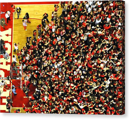 Acc Canvas Print - Nc State Fans Celebrate At Pnc Arena by Replay Photos