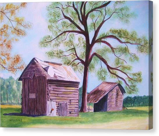 Nc Tobacco Barns Canvas Print