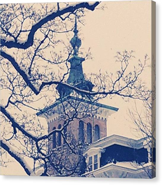 Bacon Canvas Print - Ncc In The Winter #chiberia by Derek Bacon