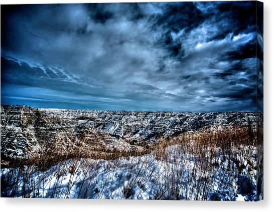 Nd Bad Lands Canvas Print