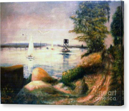 Near Greenwich Canvas Print