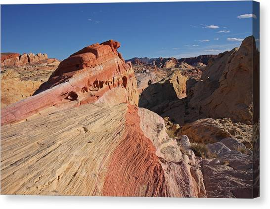 Near The Swoosh At The Valley Of Fire Canvas Print