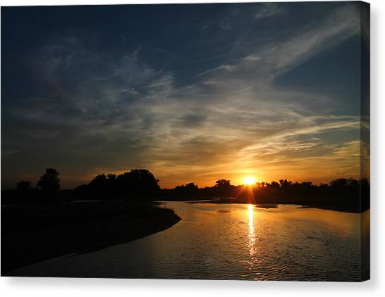 Nebraska River Canvas Print