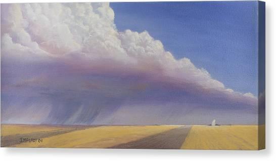 Storm Clouds Canvas Print - Nebraska Vista by Jerry McElroy
