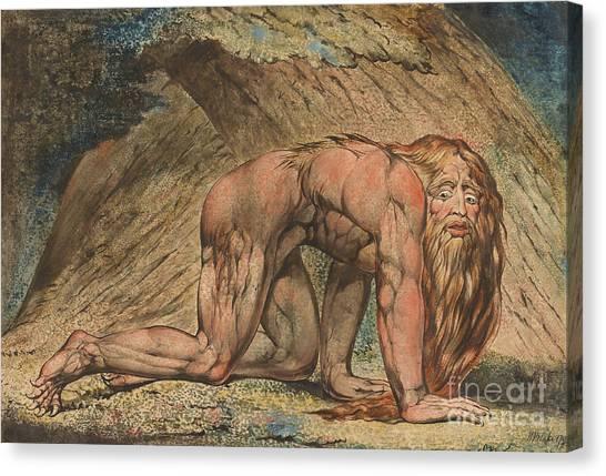 Torah Canvas Print - Nebuchadnezzar by William Blake