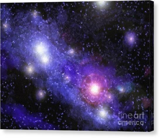 Stellar Canvas Print - Nebula Digital Painting by Antony McAulay