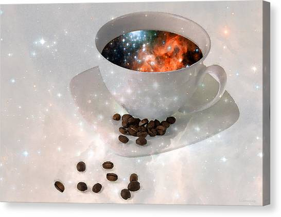 Coffee Shops Canvas Print - Nectar From Heaven - Coffee Art By Sharon Cummings by Sharon Cummings
