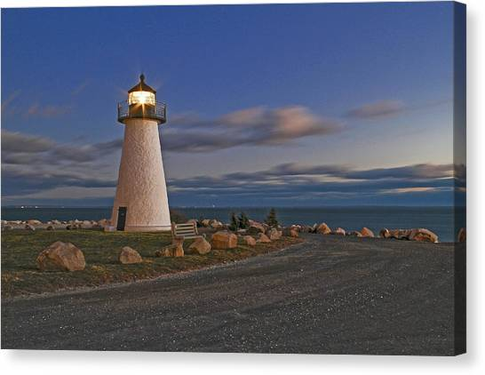 Neds Point Lighthouse In Evening Canvas Print