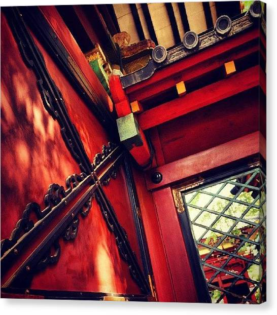 Red Cross Canvas Print - Nedu Shrine  根津神社 + by My Senx