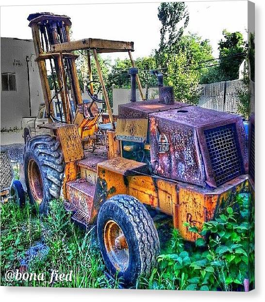 Forklifts Canvas Print - Need A Lift? by Brian Lyons