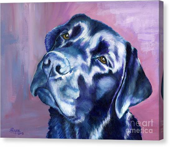 Need Help With That? Black Lab Canvas Print