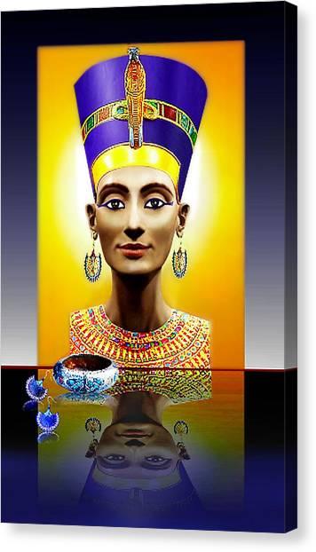 Nefertiti  The  Beautiful Canvas Print