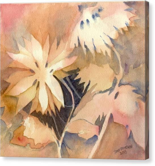 Negative Flowers Canvas Print