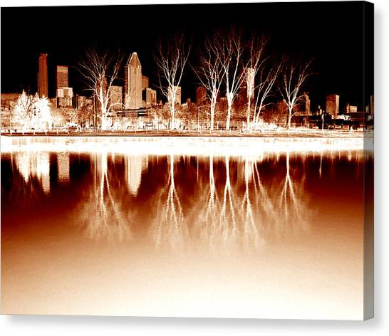 Negative Reflections  Canvas Print by Robert Knight