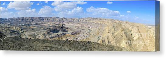 Negev Desert Canvas Print - Negev Desert Landscape by Gady Cojocaru