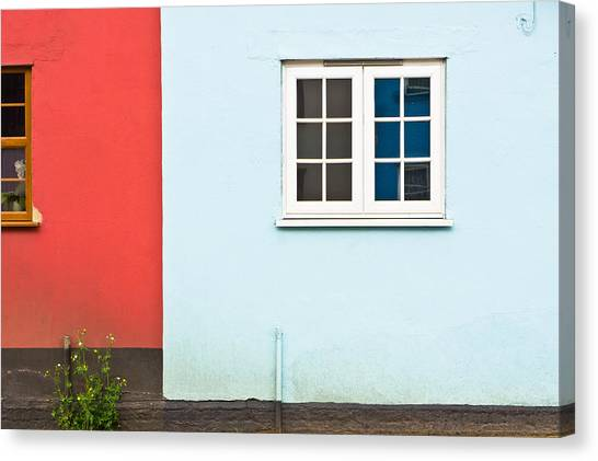 Window Canvas Print - Neighbors by Tom Gowanlock