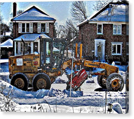 Neighbourhood Snowplough Canvas Print