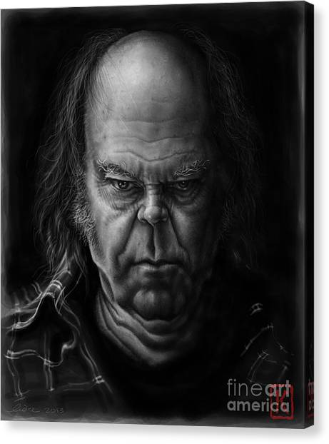 Neil Young Canvas Print - Neil Young by Andre Koekemoer