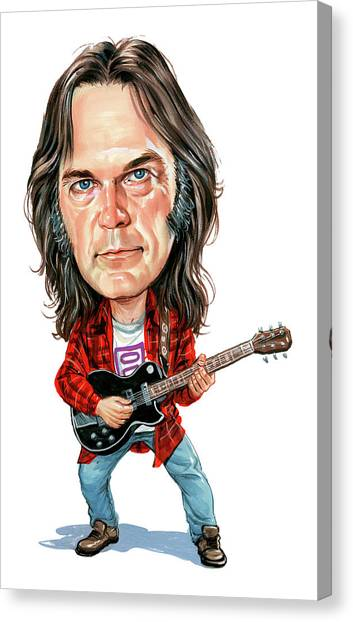Neil Young Canvas Print - Neil Young by Art