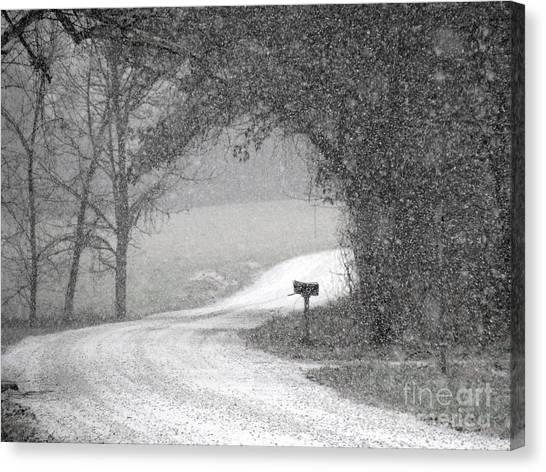 Neither Rain Nor Snow.. Canvas Print