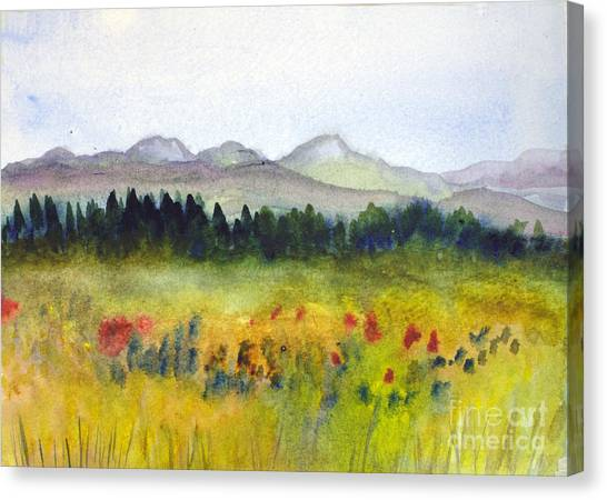 Nek Mountains And Meadows Canvas Print
