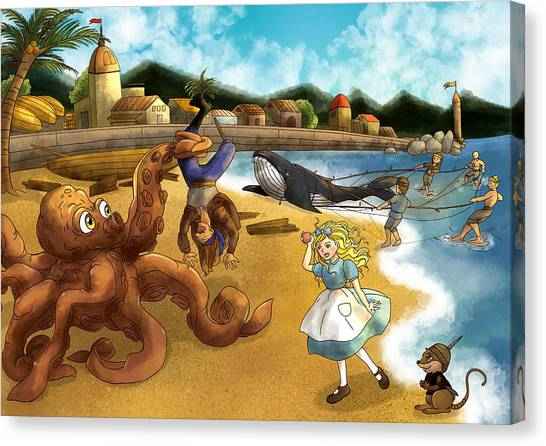 Nellie The Octopus Canvas Print