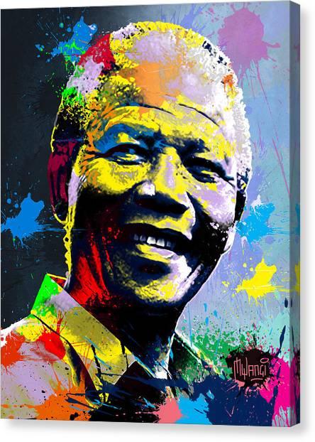 Nelson Mandela Madiba Canvas Print