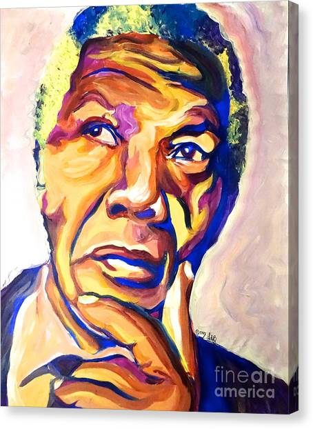 Nelson Mandela Thoughts Canvas Print by LLaura Burge