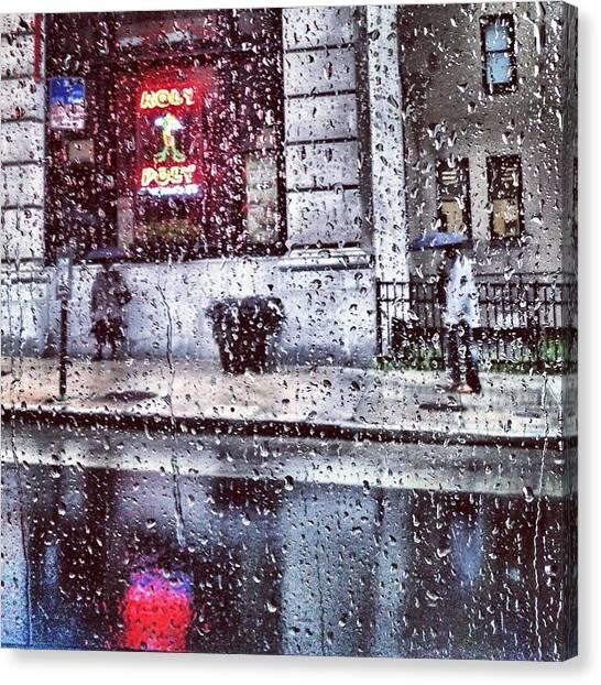 Neon And Rain Canvas Print