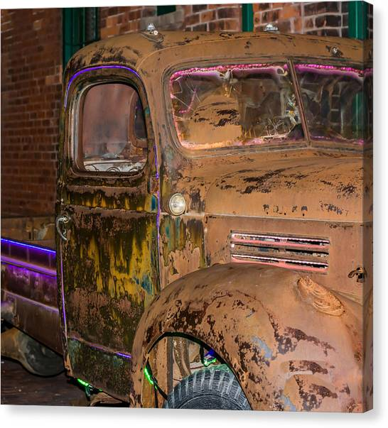 Neon And Rust Canvas Print