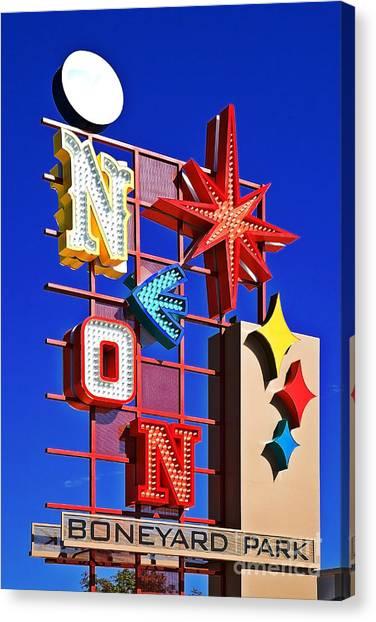 Vegas Neon Boneyard Canvas Print