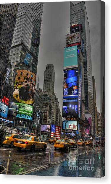 Neon City Canvas Print by David Bearden