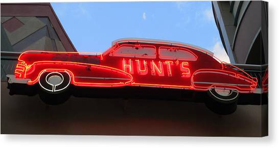 Neon Hunts Canvas Print