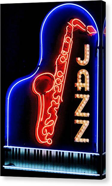 Neon Jazz Canvas Print