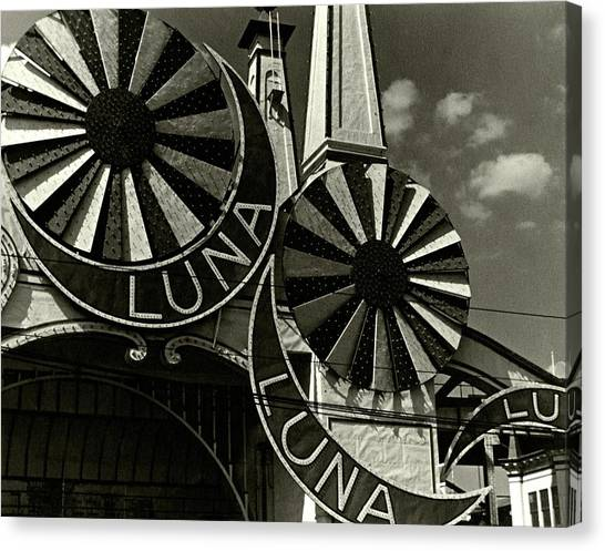 Neon Signs Of Luna Park Canvas Print by Lusha Nelson