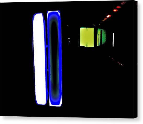Neon Subway Tunnel Canvas Print