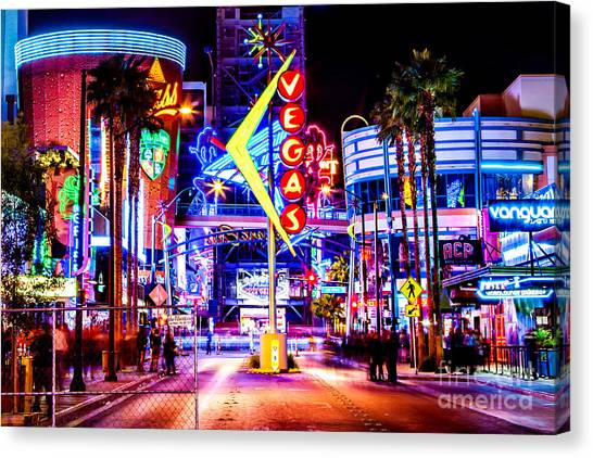 Traffic Canvas Print - Neon Vegas by Az Jackson