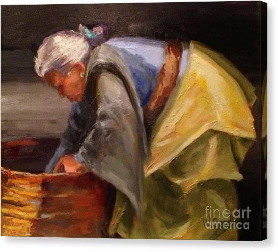 Nepal Woman Canvas Print by Wendy Gordin