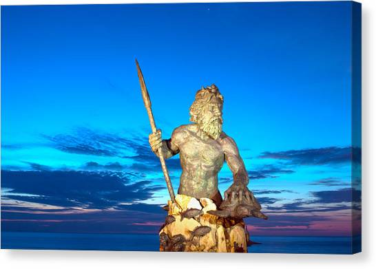 Neptune At Blue Hour Canvas Print