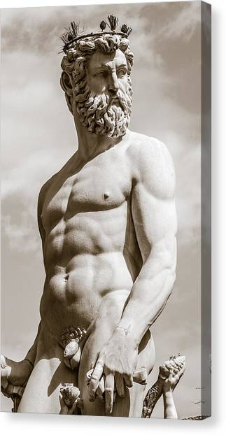 Neptune Statue In Florence Canvas Print