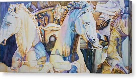 Neptune's Sea Horses - Florence Canvas Print
