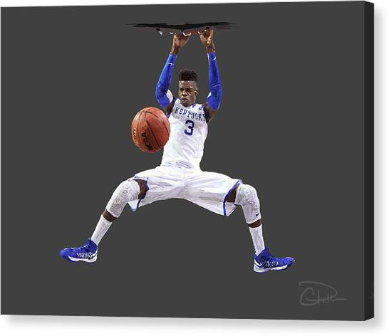 University Of Kentucky Canvas Print - Nerlens by Charley Pallos
