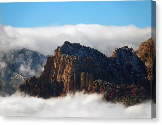 Nestled In The Clouds Canvas Print