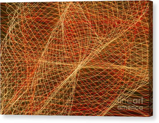 Net For The Fish Of Light Canvas Print