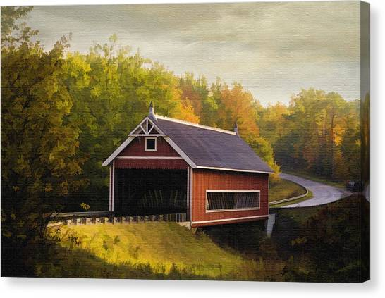 Netcher Road Covered Bridge Canvas Print